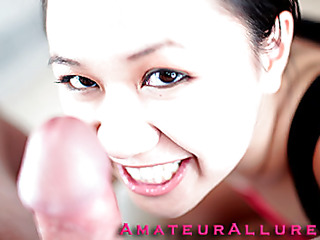 Carmina is a gorgeous twenty year old Oriental student, with a cute little body and an extreme craving for dick. It appears that Carmina has sucked off about fifty guys! That's a large number for anybody still in college. That Babe is likewise blessed with not having a gag reflex so that babe is able to take a penis down her mouth out of an issue. Amazing! After that babe unfathomable face holes my dong numerous times, I bow her over and fuck her taut little shaved fur pie. This Babe wants my load in her mouth, so shen gets on her knees and recieves my full cum discharged into her mouth and swallows it down. This Babe is a fantastic wang sucker and a great fucking lay.