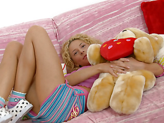 Brianna is home alone playing with her teddy bear when this babe is lastly approached by her stud. This Guy goes down on her cookie and laps up each drop of her moist snatch and then this guy bonks her slit hole with a purple sex-toy. That Guy fingers her constricted little chocolate hole as this guy stretches the muscle. This Babe takes a double penetration of the sextoy and his fingers in her holes. BriannaЄ??s booty is priceless and constricted and heЄ??s doing his most good to stretch it for his dick as this chab fingers her and stretches her muscle. Then little Brianna takes him in her mouth as heЄ??s still trying to stretch her open for his shlong. That Guy copulates her cum-hole for several minutes and then starts the task of putting the tip of his rod her butt in as that babe squirms. Lastly that babe sucks him off on the couch as that guy cums in her mouth.