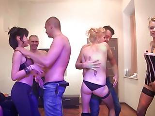 So the student group sex party was in full swing, we took our garments off and joined the fun. Damn, it was one of the wildest and craziest college fuck parties ever! Sexy college sluts in nylons and sexy heels made out with each other, sucked ...