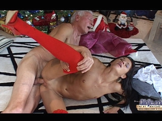 This old fellow finds out on the Christmas morning a cute dark brown doll underneath his tree. But this doll is a real juvenile beauty sent to make him pleased with valuable hardcore: oldyoung fuck, fellatio, doggy style and more