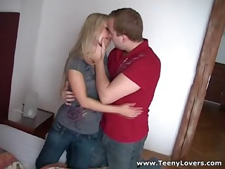 Nobody knows how to pick up and tempt an desirous legal age teenager chick more excellent than this ever-horny guy who likes fucking stupid eighteen y.o. cuties. This Chab has a huge collection of raunchy victories captured on web camera and this one is really specific cuz it's his recent neighbour a bitchy blond who thinks this babe's so nifty and stuff but still falls prey to his raunchy charms. Now watch this slut take knob in 69 position ride it hard and get nailed doggystyle like a filthy whore. This Babe merits it!