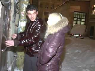 It keeps snowing outside but in this guys apartment things get hawt and wet when this chab has his recent girlfriend over for some hardcore fun. Hes just met this lovely golden-haired but that babe cant resist his charms when this chab makes a move and in advance of that babe knows it that babe finds herself slamming her mouth into his hard dick and engulfing it with great hunger and excitement. Dude this teeny has a mind boggling body with cute titties and a firm round a-hole so u wager the guy can't live without banging her from behind.