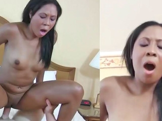 Lisa Johnson making loud sounds during very rough interracial action