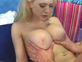 Awesome horny blonde girl getting face fucked and loving it