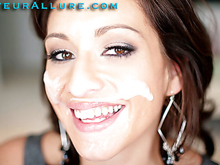 Makalie has a recent company and is looking for a very peculiar recent employee to demo her product in womens homes. Jism Facial Solutions sends out guys to get blowjobs and dump large loads of cum on womens faces then feed 'em the cum. My dream job. The