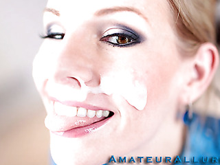 Aimee Addison returns to Amateur Allure and this time this babe wants a facial. This stunning blond is tall, breasty and a very nasty hotty. That Babe is an amazing knob sucker and this babe puts my jock to the test. I hold out as lengthy as I can after p